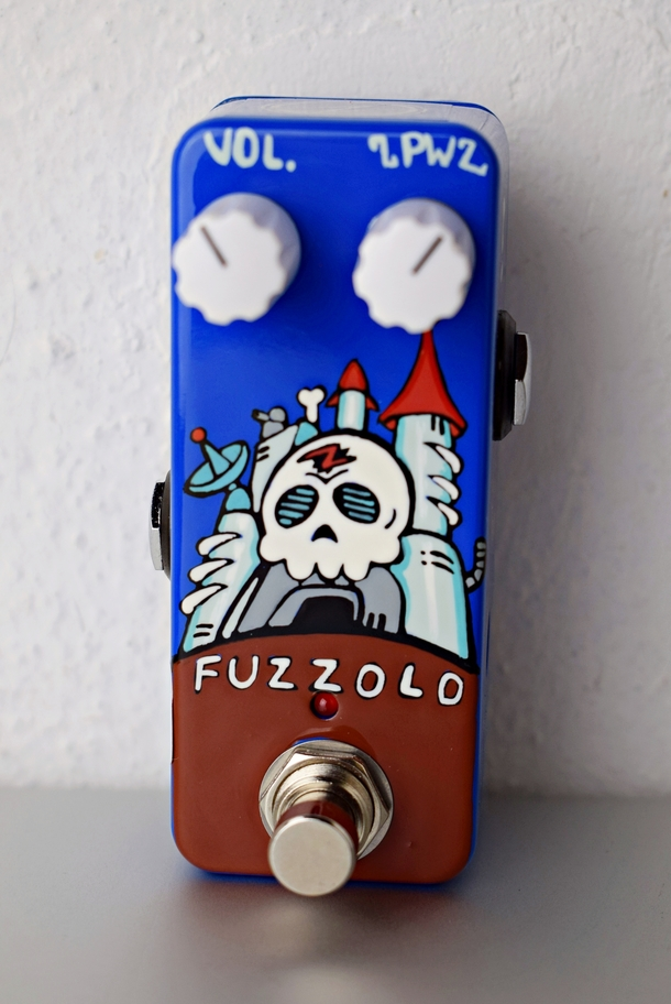 Hand Painted - Fuzzolo Skull Castle 'One Of One'